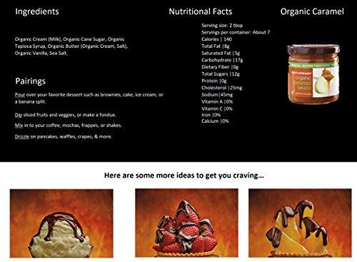 The King's Cupboard Original Organic Sampler Gift Set of Hot Fudge & Caramel Sauce by The King's Cupboard (Image #3)'