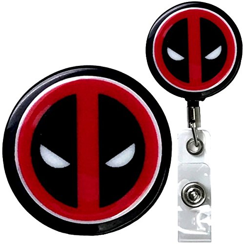 Deadpool Inspired Symbol Real Charming Premium Decorative ID Badge Holder (Belt Clip HD) by Real Charming