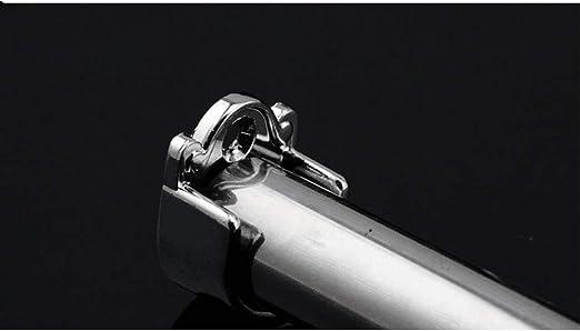 Flansch Halterung 4 St/ück U-F/örmig Zinklegierung Rundrohr-Halterung mit Edelstahl Schrauben und D/übel Kleiderstangen-Halterung f/ür Schrankrohr-Stange Garderobenhalterung Duschvorhangstange 25mm