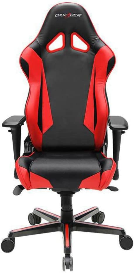 DXRacer OH RV001 NR Black Red Racing Series Gaming Chair Ergonomic High Backrest Office Computer Chair Esports Chair Swivel Tilt and Recline with Headrest and Lumbar Cushion Warranty
