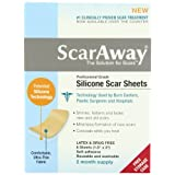 "Scaraway Professional Grade Silicone Scar Treatment Sheets 1. 5"" x 3"" 8 Count"