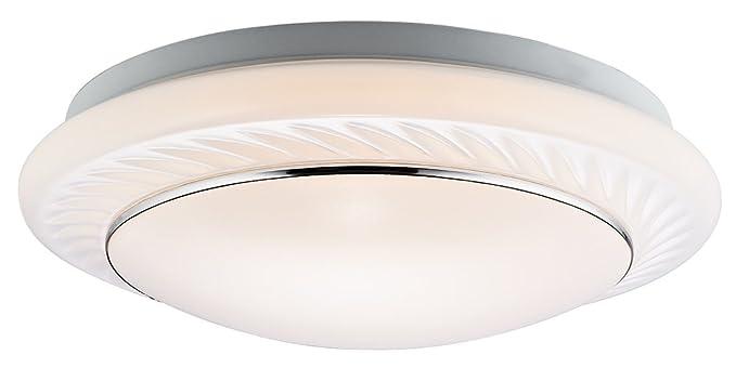 Moderne runde LED Badezimmer Deckenleuchte mit wei§en Diffusor und ...