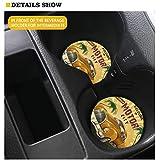 Coloranimal 2 MM Thickness Car Coasters Sugar Skull