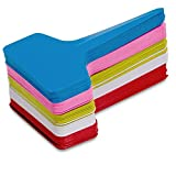 """KINGLAKE 500 PCS 5 Colors Plastic Waterproof Plastic Plant Nursery Garden Labels T-type Tags Markers Plant Stakes Re-Usable Plant Tags 2.3"""" x 4"""" Review"""