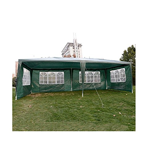 10'x20'Outdoor Canopy Party Wedding Tent Heavy duty Cater Events Gazebo Pavilion Green
