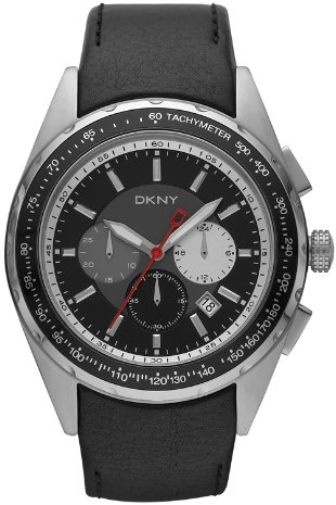 DKNY NY1488 - Reloj de Pulsera de Hombre, Correa de Piel Color Negro: Amazon.es: Relojes