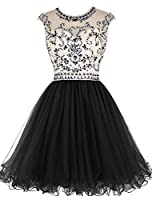 Dressesonline Women's Beading Prom Dress Short A-line Homecoming Dress