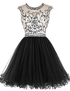Dressesonline Women's Beading Prom Dress Short A-line Homecoming Dress