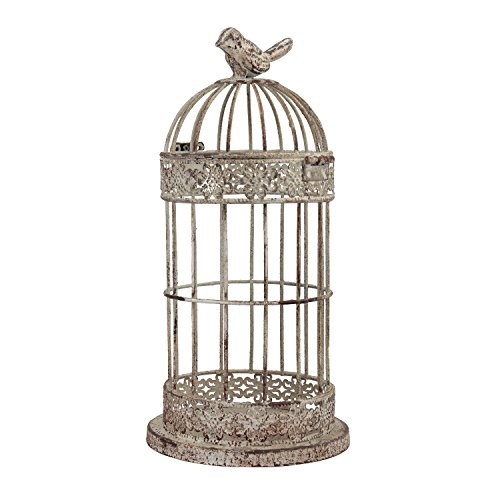 Stonebriar Decorative Small Aged Metal Wire Bird Cage