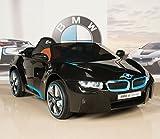 BIG TOYS DIRECT BMW i8 12V Kids Ride On Battery Powered Wheels Car RC Remote Black
