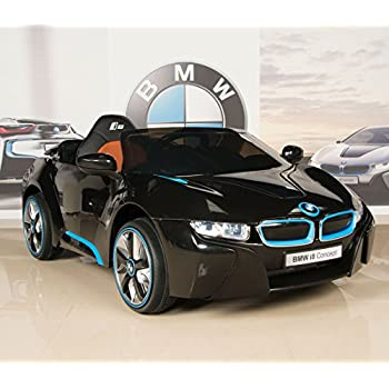 BMW i8 12V Kids Ride On Battery Powered Wheels Car RC Remote Black