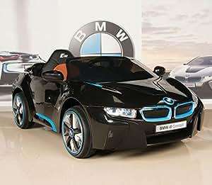 BMW i8 12V Kids Ride On Battery Powered Wheels Car RC Remote Black