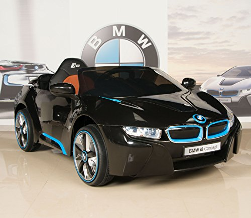 BMW-i8-12V-Kids-Ride-On-Battery-Powered-Wheels-Car-RC-Remote-Black