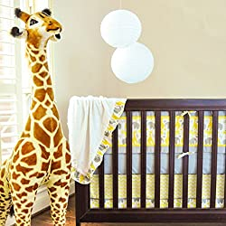 Pam Grace Creations Zigzag Safari 10 Piece Crib Set With Bumper, Zigzag Safari