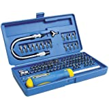 Eazypower 81970 103-Piece Security and Non-Security Screwdriver Tips Kit with Flex-A-Bit Extension and Silent Ratcheting Screwdriver in Heavy Duty Storage Case
