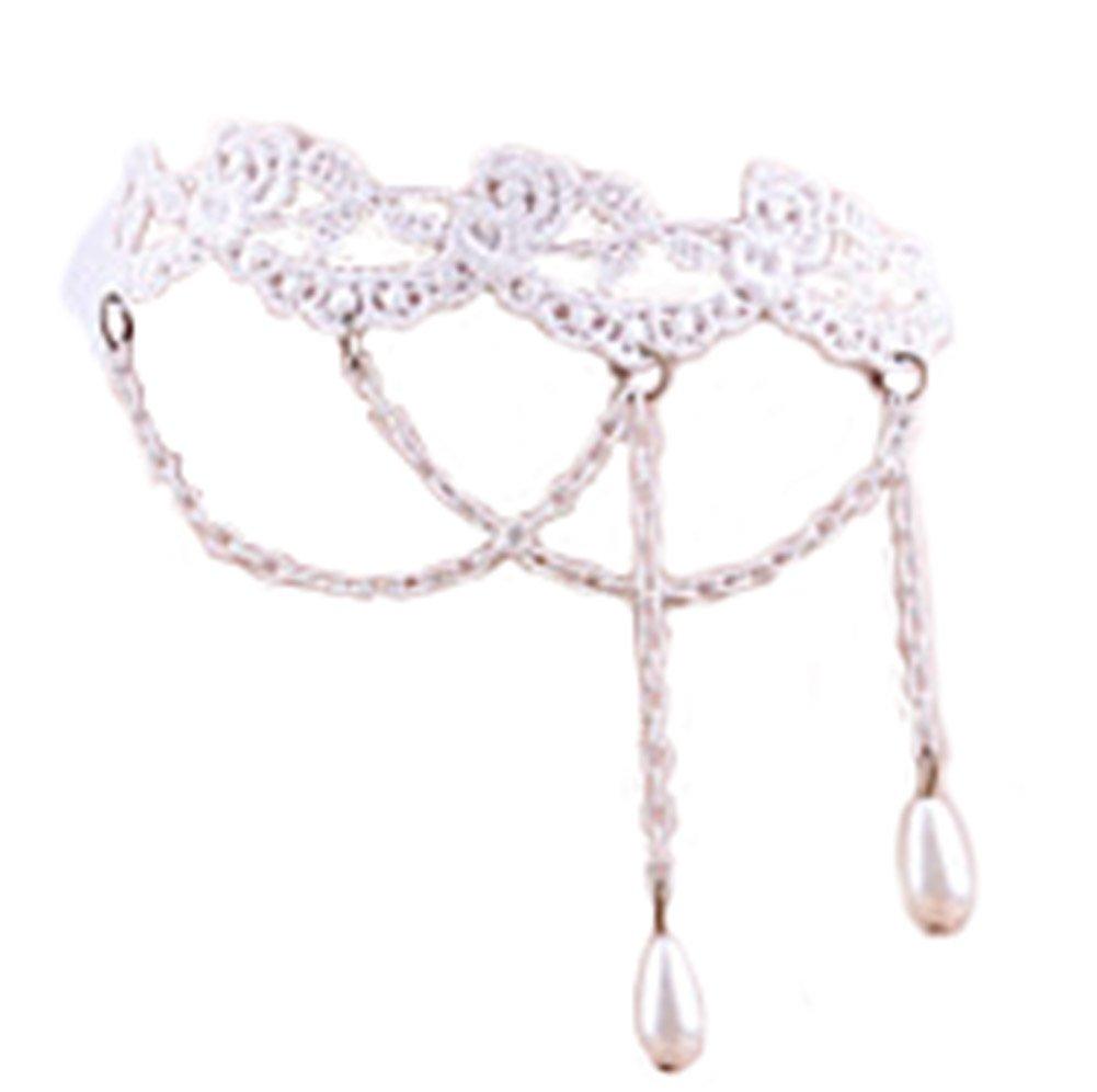 Cdet 1X Women Jewellery Anklet Chain Ring Boho White Tassel Pendant Beach Sandal Barefoot Charm Ankle Bracelet