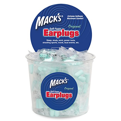 Mack's Original Soft Foam Earplugs -100 Pair - Individually Wrapped - 32dB Highest NRR, Comfortable Ear Plugs for Sleeping, Snoring, Work, Travel and Loud Events by Mack's (Image #1)