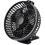 YKS 7-inch Portable USB Clip-on Fan 360 Degree Rotatation Desk Fan(Black)