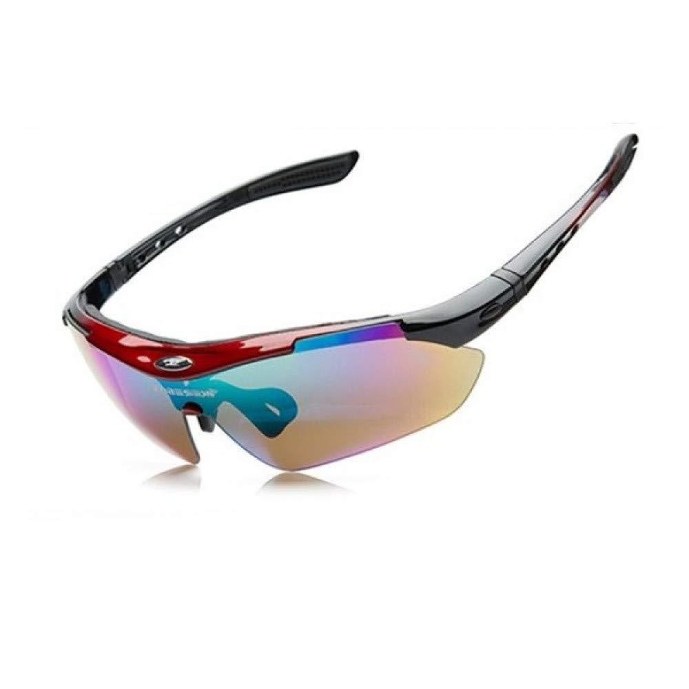 LOLIVEVE Professionelle Ski Eyewear Radfahren Brille 5 Objektiv Winddicht Anti-Fog Outdoor Sports Angeln Fahrrad Sonnenbrille   Uv 400