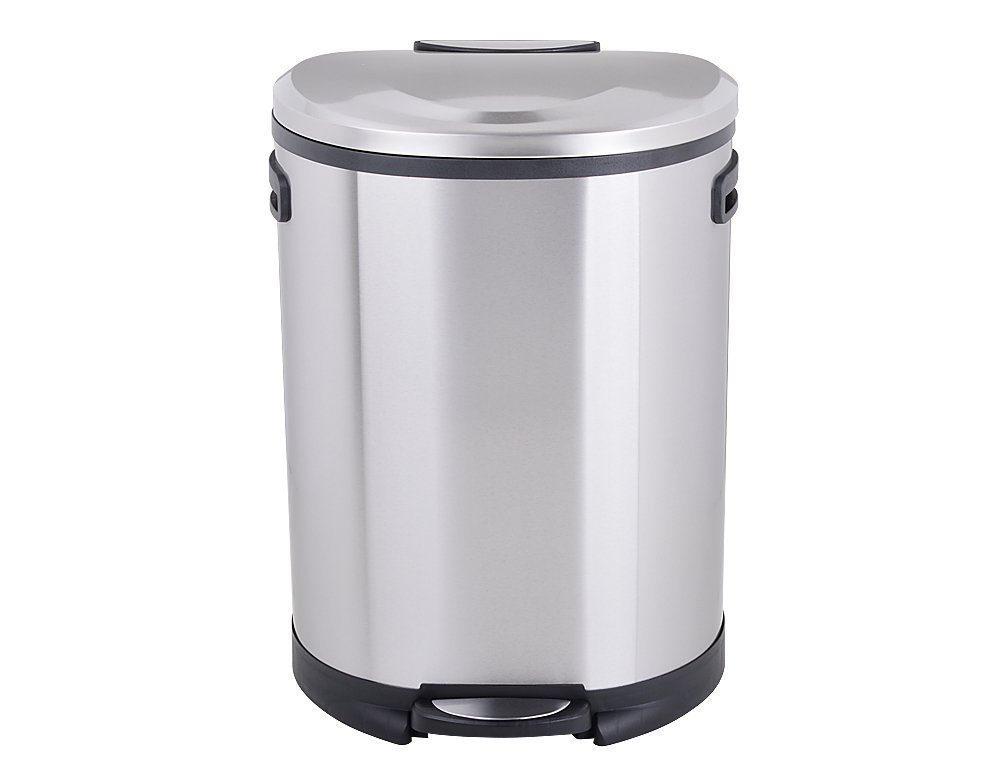 Utopia Alley Cress Contour Curved Stainless Steel Trash Can, 50 L by Utopia Alley