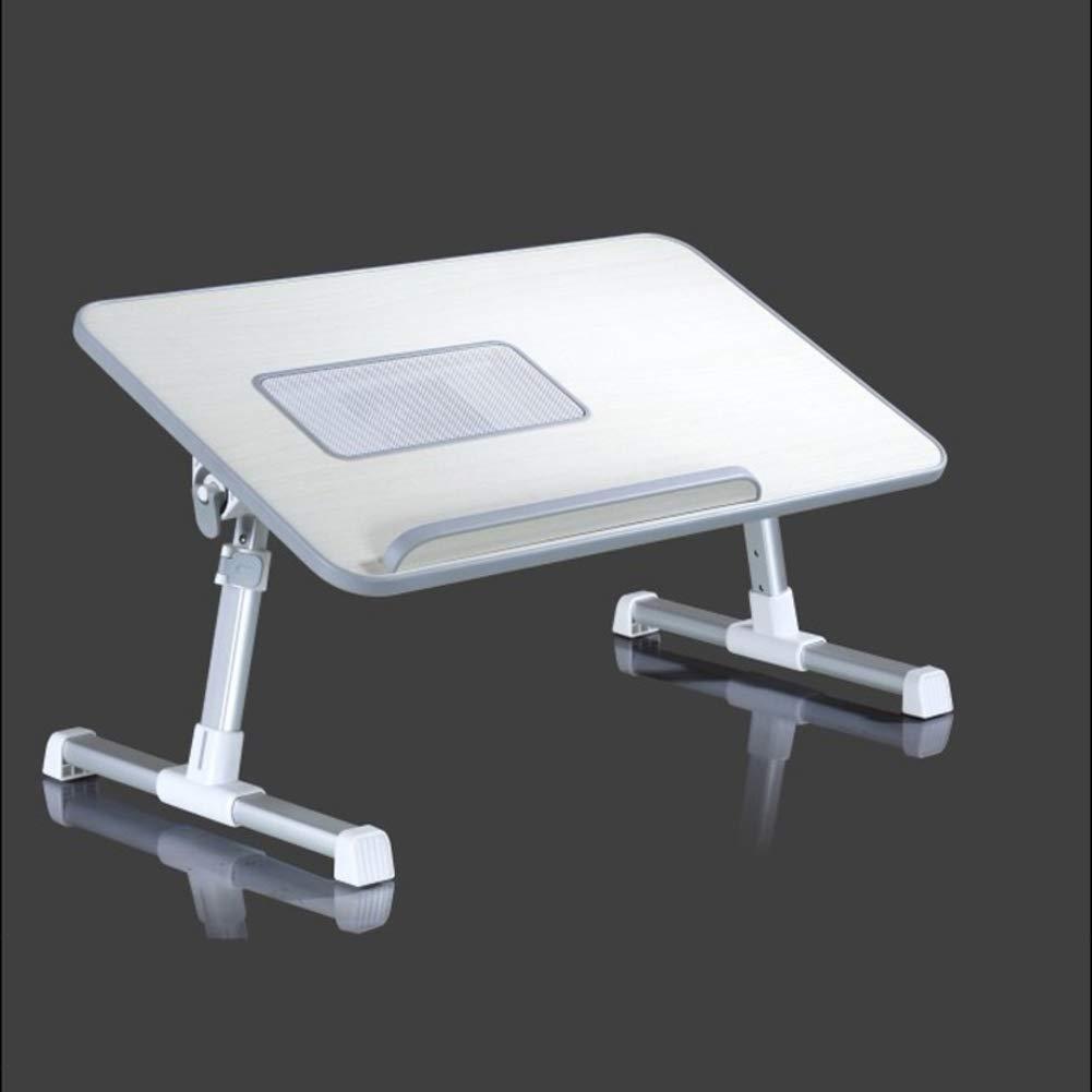 Nclon Regazo, Mesa de Cama para Portátil Ajustable,Soportes de Regazo, Nclon Mesa Escritorio Ergonómica Aluminio con Ventilador 8e708a