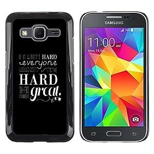 LECELL--Funda protectora / Cubierta / Piel For Samsung Galaxy Core Prime -- Si no fuera DURO --