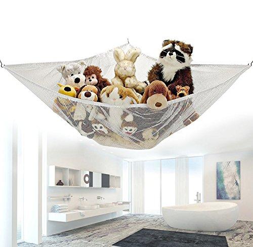 carejoy Jouet d'angle Hamac Filet pour l'organisation d'Animaux en peluche et jouets pour enfants de bain, 120* * * * * * * * 90* * * * * * * * 90cm