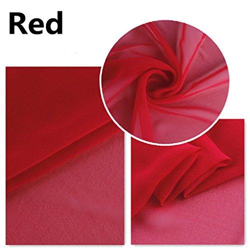 Maxfeel 100% Silk Georgette Fabric for Clothing Dress Wedding Lining Width 44
