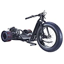 BLACK Big 3 Wheel Wicked FAST Drift Trike Bike ScooterX Mini Race Drifter 25-30mph! Go Kart Cart Engine 49cc 2 Stroke 2.5HP [534B]
