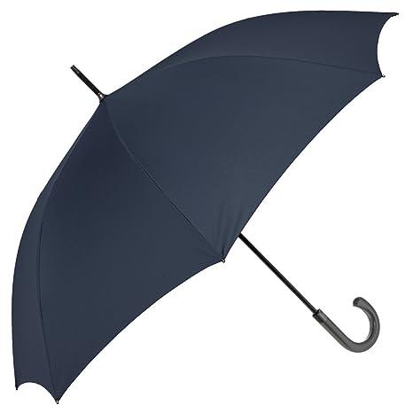 Paraguas de Hombre Largo Perletti Technology - Golf antiviento y Ultra Resistente – Tela Monocolor con
