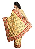 StyleLoft Indian Ethnic Art Silk Beige Fancy Saree
