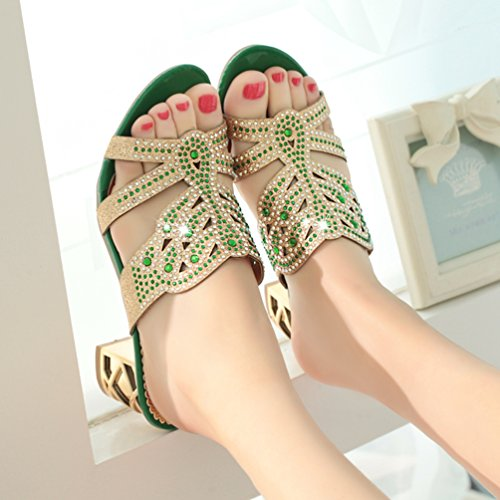 XHCHE Femme Chaussons Femme Chaussons XHCHE Green Green XHCHE wn1UqwTxg