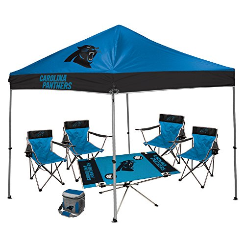 NFL Hall of Fame Tailgate Bundle - Carolina Panthers (1 9X9 Canopy 4 Kickoff  sc 1 st  Tailgate Canopy Popup Tents with NCAA and NFL Team Logos & CAROLINA PANTHERS Pop Up Canopy Tent for Tailgating Camp |