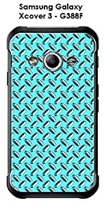 Carcasa para Samsung Galaxy Xcover 3-G388F Design metal color scuba blue
