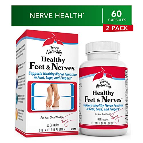 Terry Naturally Healthy Feet & Nerves (2 Pack) – 60 Vegan Capsules – Nerve Function Support Supplement, Contains B Vitamins & Boswellia – Non-GMO, Gluten-Free – 30 Total Servings