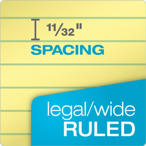 TOPS The Legal Pads, Legal Rule, 8.5 x 11.75 Inches, Canary, Perforated, 50 Sheets/Pad, 12 Pads/Pack (7532)