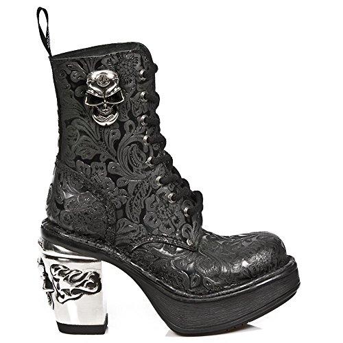 Negro Rock Punk Tacón Mujer Heavy M New Botines s1 Cordones 8358 Gótico Chica F6cUT6g1wq
