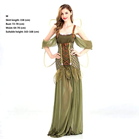 Disfraz de Halloween Disfraz de Elfo verde Bosque Princesa ...