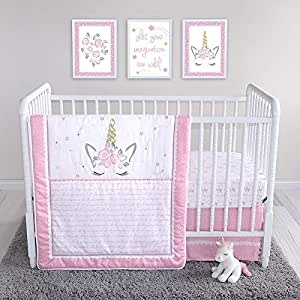 Amazon Com Mystical Dreams Unicorn 4 Piece Crib Bedding