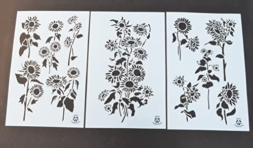 14x13cm//5.51x5.12in Wall Decoration Kids Crafting Window Paper Scrapbooking Different Airbrush DIY Hollow Design PET Plastic Stencil Painting Templates Stencils Perfect for Textile Design
