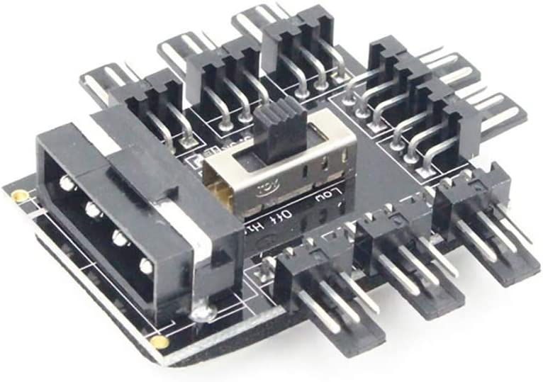 Cable Length: Sata Powered Cables PC Computer IDE 1 to 8 Multi Way Cooler Cooling Fan Hub 3Pin 12V PCB Splitter