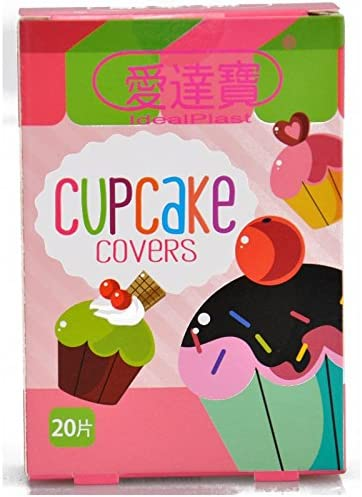 Pack of 60pcs Assorted Breathable Waterproof Cartoon Cupcake Adhesive Bandages Hemostasis for Children Kids