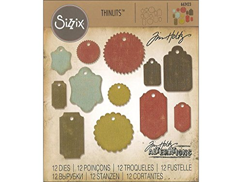 Sizzix Tholtz Thinlits Die Gift Tags TH
