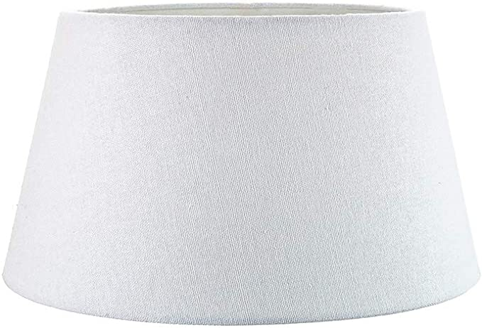 Traditional 8 Inch White Linen Fabric Drum Table Pendant Lamp Shade 40w Maximum By Happy Homewares Amazon Co Uk Lighting