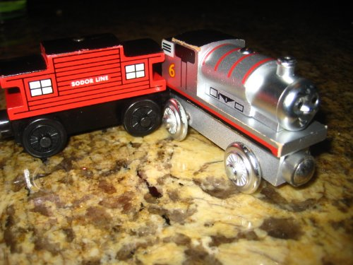 Line Sodor - Limited Edition 60 Year PERCY Thomas the Train Wooden Train + Sodor Line Caboose