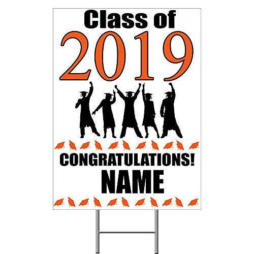 (2019 Graduation Orange Yard Sign (Each) Customized by)