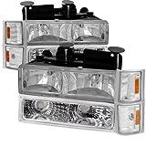 96 chevy 1500 headlight bulbs - Chevy C10 C/K Pickup Chrome Headlights, Bumper, Corner Lights 8Pc