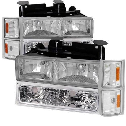 Chevy C10 C/K Pickup Chrome Headlights, Bumper, Corner Lights 8Pc (Bumper Pickup C10)