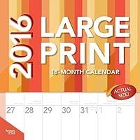 Large Print 2016 Square 12x12 Wall Calendar
