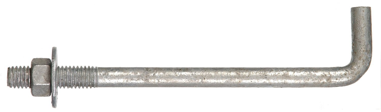 10-Pack The Hillman Group 260293 5//8 x 12-Inch Anchor Bolt